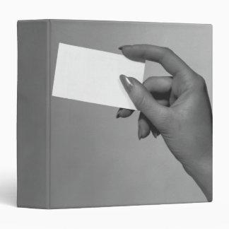 Woman Holding Card Vinyl Binders