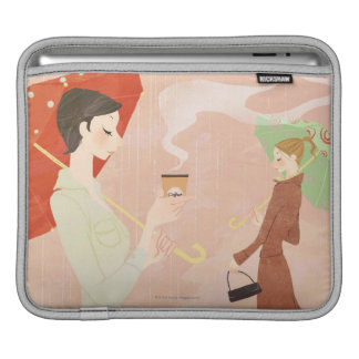 Woman Holding Coffee iPad Sleeve