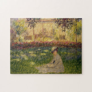 Woman in a Garden Monet Fine Art Jigsaw Puzzle