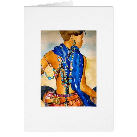 Woman in Beads Card