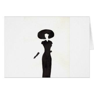 Woman In Black Card