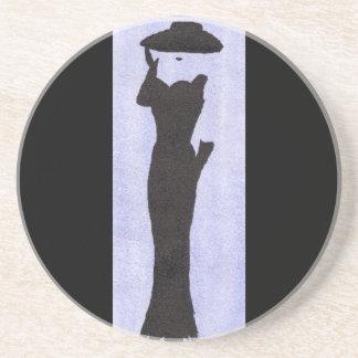 Woman In Black Coaster