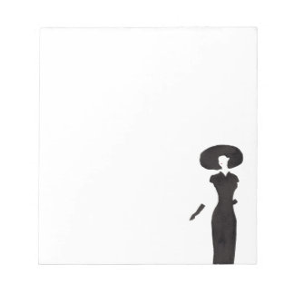 Woman In Black Notepad