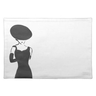 Woman in Black Placemat