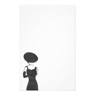 Woman in Black Stationery
