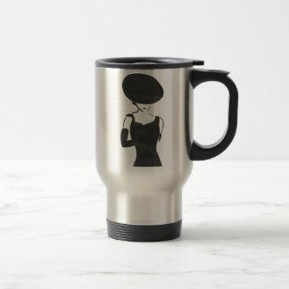 Woman in Black Travel Mug