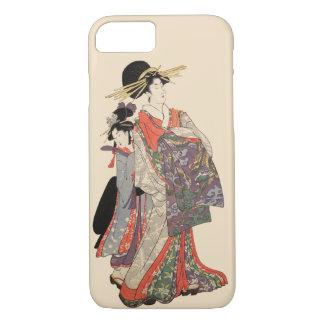 Woman in colorful kimono iPhone 7 case