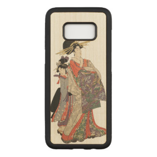 Woman in colorful kimono (Vintage Japanese print) Carved Samsung Galaxy S8 Case