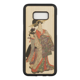 Woman in colorful kimono (Vintage Japanese print) Carved Samsung Galaxy S8+ Case