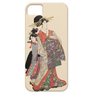 Woman in colorful kimono (Vintage Japanese print) Case For The iPhone 5