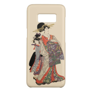 Woman in colorful kimono (Vintage Japanese print) Case-Mate Samsung Galaxy S8 Case