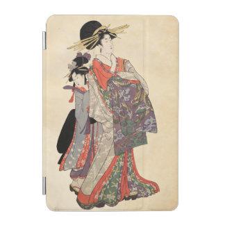 Woman in colorful kimono (Vintage Japanese print) iPad Mini Cover