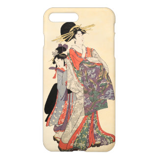 Woman in colorful kimono (Vintage Japanese print) iPhone 8 Plus/7 Plus Case