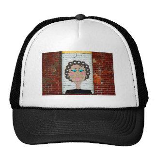 Woman in Curlers Trucker Hats