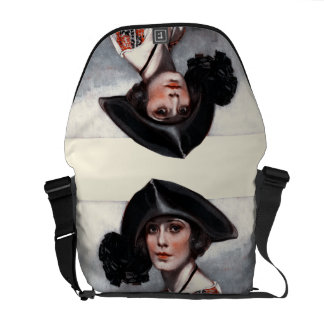 Woman in Embroidered Blouse Commuter Bags