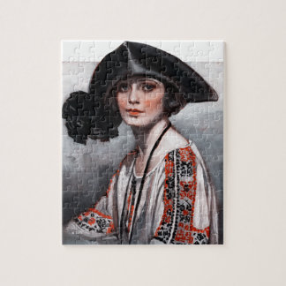 Woman in Embroidered Blouse Puzzles