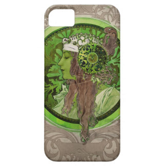 Woman in Green - LAUREL iPhone 5 Cases