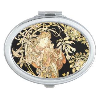 Woman in Jasmine Vines Vanity Mirror
