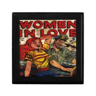 Woman in love gift box