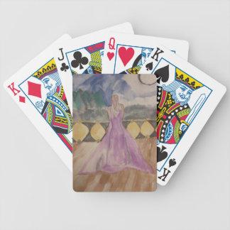 Woman in Moonlight Poker Deck