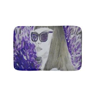 Woman in Purple Bath mat