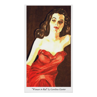 """Woman in Red"" by Carolina Gunter Poster"