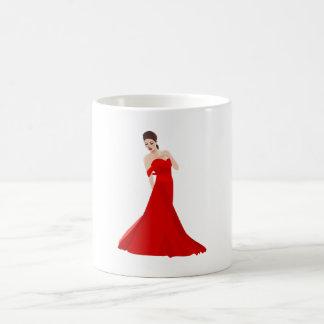 Woman In Red Dress Mug