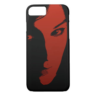 Woman in Red iPhone 7 Case