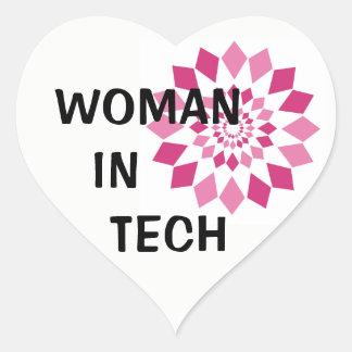 Woman in Tech Heart Sticker