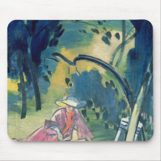Woman in the Garden Mouse Pad