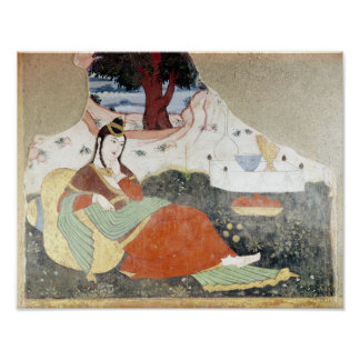 Woman in the Garden of Shah Abbas I Poster