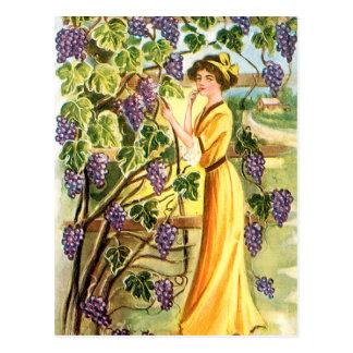 Woman in the Vineyard Postcard