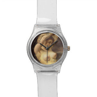 Woman in the Waves by Gustave Courbet Wrist Watches