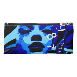 Woman in time pencil case