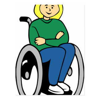 Woman in Wheelchair Postcard