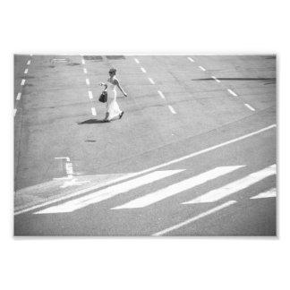 Woman in White Photo Print