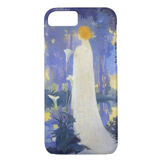 Woman in white with Calla lillies iPhone 8/7 Case