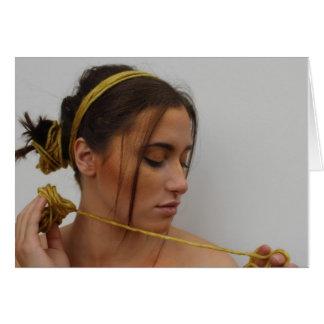 Woman in Yarn Card