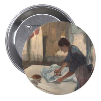 Woman Ironing by Edgar Degas 3 Inch Round Button