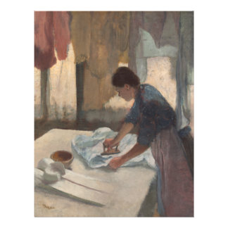 Woman Ironing by Edgar Degas Flyer