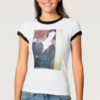 Woman Leaning With Cigarette T-Shirt