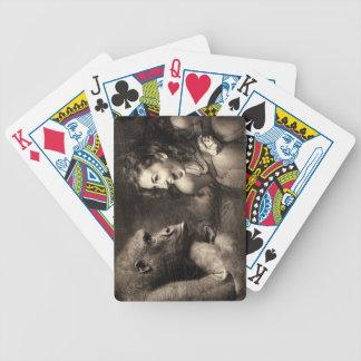 Woman Making Gorilla Laugh Bicycle Playing Cards