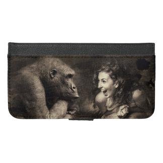 Woman Making Gorilla Laugh iPhone 6/6s Plus Wallet Case