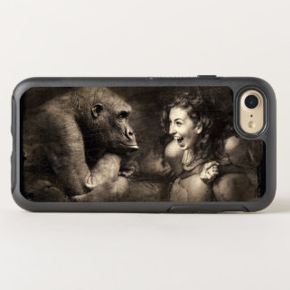Woman Making Gorilla Laugh OtterBox Symmetry iPhone 8/7 Case