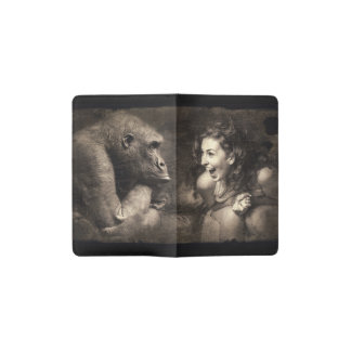 Woman Making Gorilla Laugh Pocket Moleskine Notebook