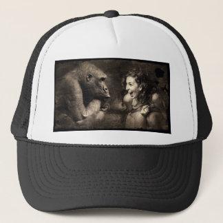 Woman Making Gorilla Laugh Trucker Hat