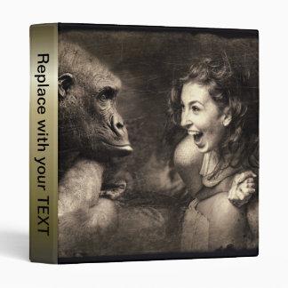 Woman Making Gorilla Laugh Vinyl Binder