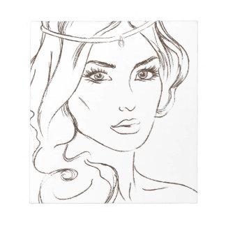 woman notepad