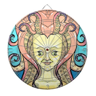 woman octopus dartboard