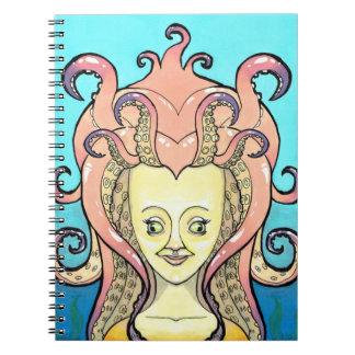 woman octopus notebook